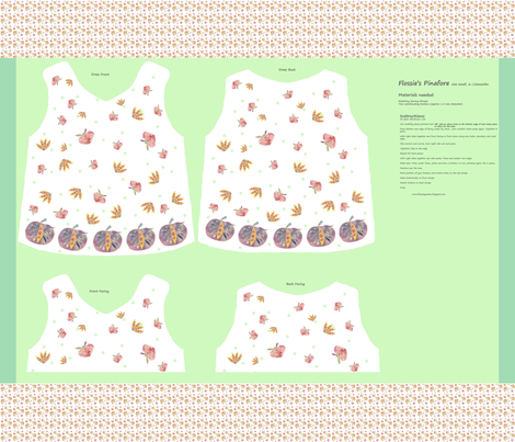 Flossie's Pinafore Cut And Sew fabric by flossies_garden on Spoonflower - custom fabric