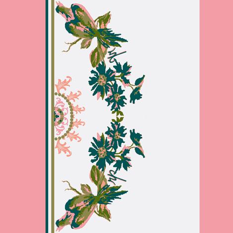 Paradise rococo / border fabric by paragonstudios on Spoonflower - custom fabric