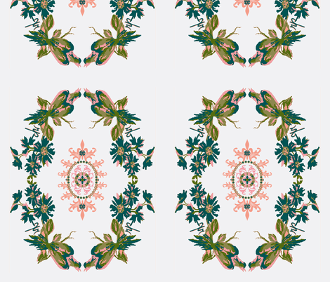 Paradise rococo / Sham panel fabric by paragonstudios on Spoonflower - custom fabric