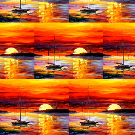 Golden Gate Bridge By Sunset fabric by afremov_designs on Spoonflower - custom fabric