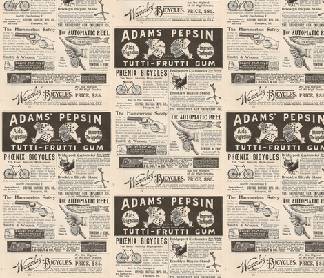 Full Page of 1895 Ads fabric by angelandspot on Spoonflower - custom fabric