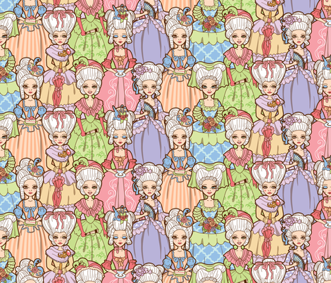 Rococo Ladies fabric by jillianmorris on Spoonflower - custom fabric
