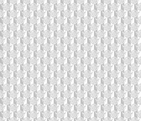 Rococo Damask in Subtle Gray and White fabric by shyredfox on Spoonflower - custom fabric
