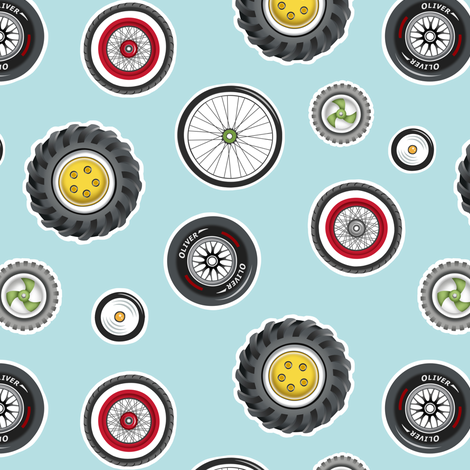 Wheels Wonderful Wheels fabric by pattysloniger on Spoonflower - custom fabric