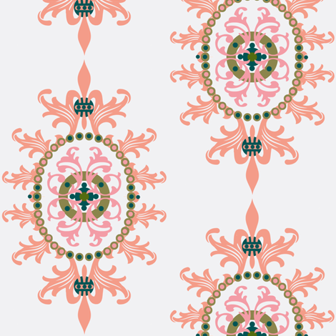 Paradise rococo fabric by paragonstudios on Spoonflower - custom fabric