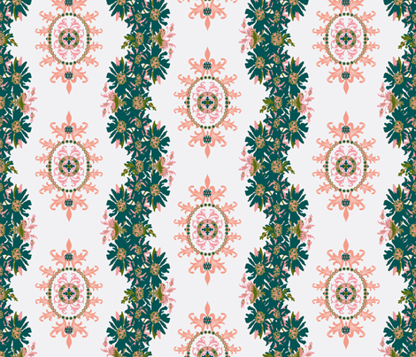 Paradise rococo / floral garland fabric by paragonstudios on Spoonflower - custom fabric