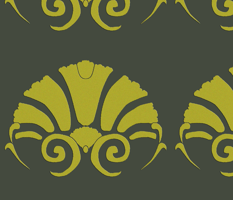 Rococo_devore fabric by hannal on Spoonflower - custom fabric