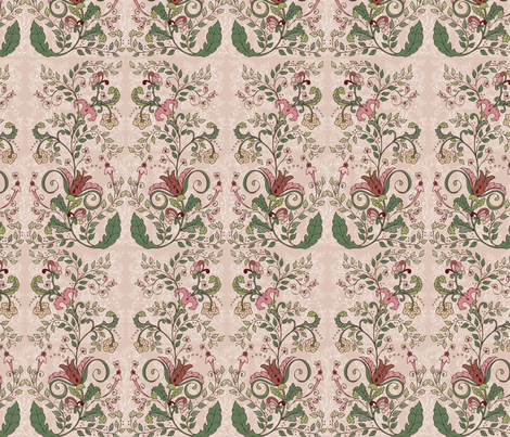 Rococoblush1 fabric by leslipepper on Spoonflower - custom fabric