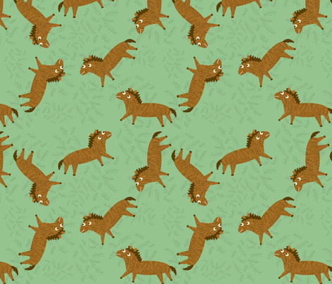 Horses fabric by heidikenney on Spoonflower - custom fabric