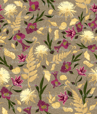 Chrysanthemums & Lilies