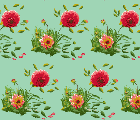dahlia_A_edit_1c_Picnik_collage fabric by khowardquilts on Spoonflower - custom fabric