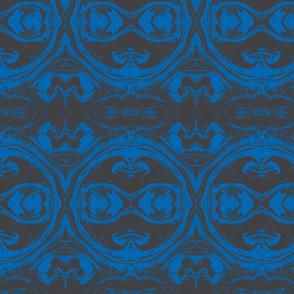 suminagashi charcoal blue 7 x 8