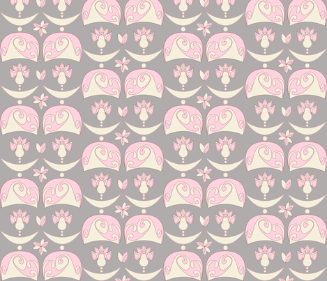 LADY MARIE ANTOINETTE (grey) fabric by majobv on Spoonflower - custom fabric