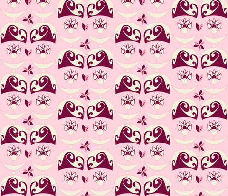 Lady Marie Antoinette  fabric by majobv on Spoonflower - custom fabric