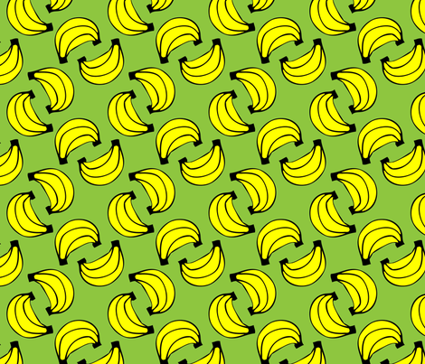 Geometric Bananas fabric by klingercreative on Spoonflower - custom fabric