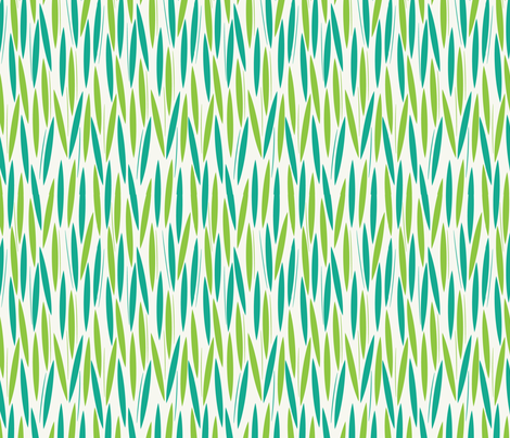 Leaf Cuts: Surf/Lime fabric by circlesandsticks on Spoonflower - custom fabric