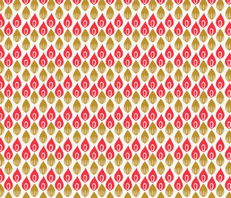 Crazy Petals: Coral/Sand fabric by circlesandsticks on Spoonflower - custom fabric