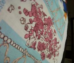 Rococo Rose Border Print