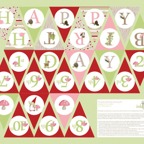 Birthday Bunting - Pink/Red