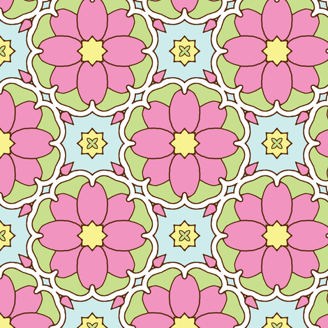 Flowers on the Vine - Honeysuckle fabric by inscribed_here on Spoonflower - custom fabric