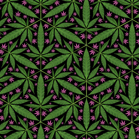 Delta-9 , Green fabric by beth_snow on Spoonflower - custom fabric