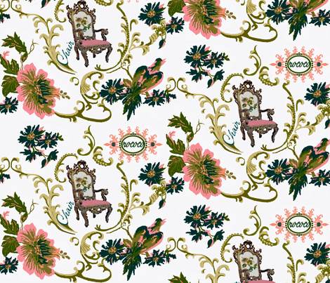 Paradise rococo / chair fabric by paragonstudios on Spoonflower - custom fabric