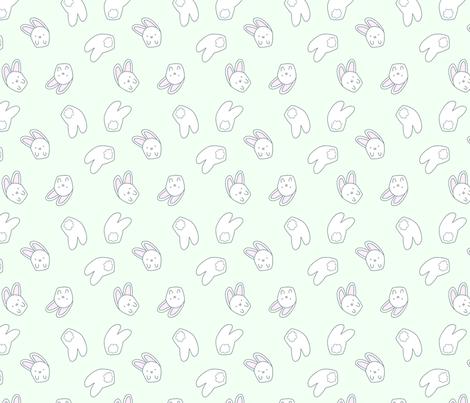 smallbunnies2 fabric by lighthearts on Spoonflower - custom fabric