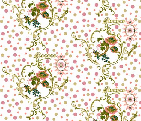 Rococo dreams fabric by paragonstudios on Spoonflower - custom fabric