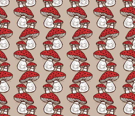 Mushrooms fabric by kim_buchheit on Spoonflower - custom fabric