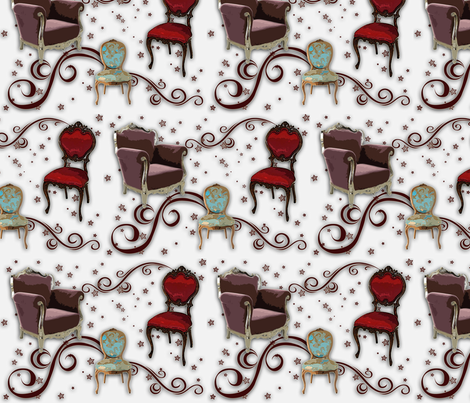 rococo_chairs_4 fabric by snork on Spoonflower - custom fabric