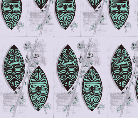 Havaiki Haute, sterling marquesians fabric by sophista-tiki_by_dawn_frasier on Spoonflower - custom fabric