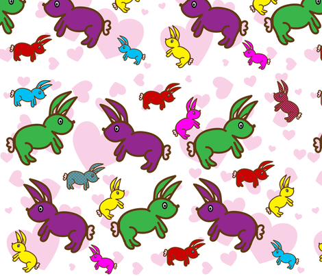 my bunny valentine fabric by snork on Spoonflower - custom fabric