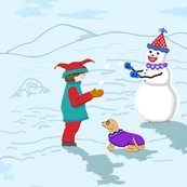 Rclowns_boy__snowman_and_dog_revise_colors_plus_6_off_shop_thumb