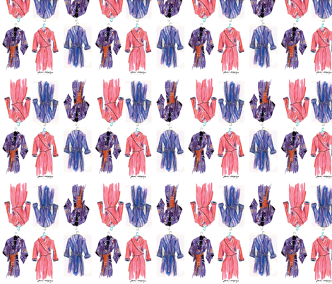 Bathrobe City by Jane LaFazio  fabric by jane_lafazio on Spoonflower - custom fabric