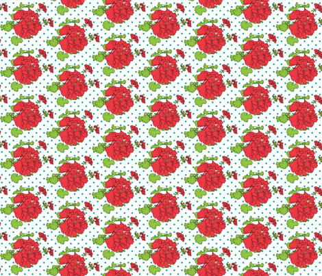 dots_a_really_small_geranium_on_medium_dots fabric by victorialasher on Spoonflower - custom fabric