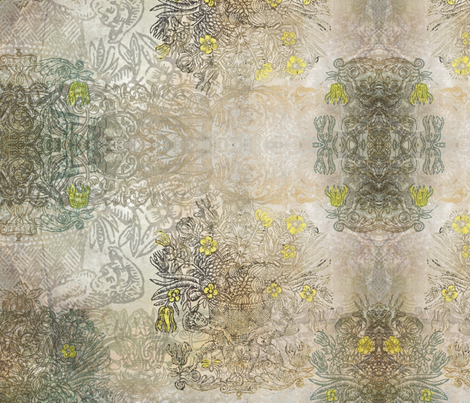 Rococo - Neutral fabric by mudstuffing on Spoonflower - custom fabric
