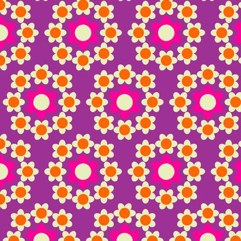 Daisy_Chain purple fabric by aliceapple on Spoonflower - custom fabric