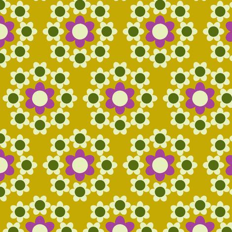 Daisy_Chain mustard fabric by aliceapple on Spoonflower - custom fabric