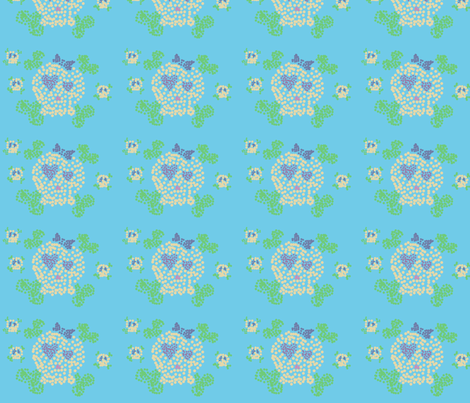 Dotty Skull fabric by jnifr on Spoonflower - custom fabric