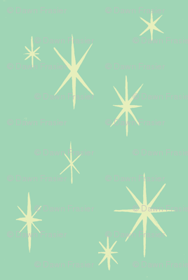 Mixers. pale blue starburst