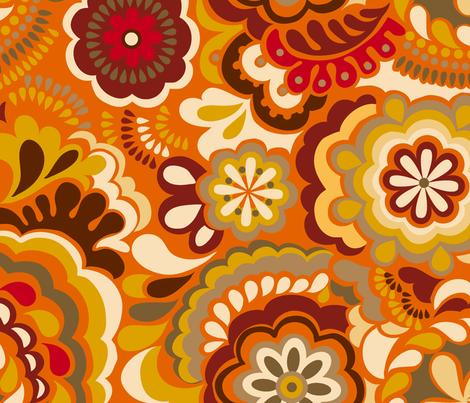 Autumn Swirls_Big size fabric by chulabird on Spoonflower - custom fabric