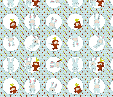 Rabbit Suit fabric by ttoz on Spoonflower - custom fabric