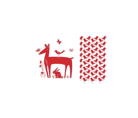 red_animals fabric by antoniamanda on Spoonflower - custom fabric