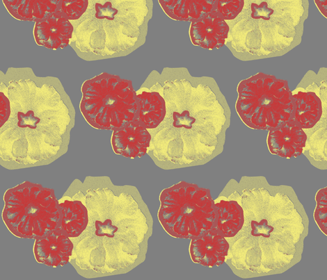 Flowers Yellow fabric by dolphinandcondor on Spoonflower - custom fabric
