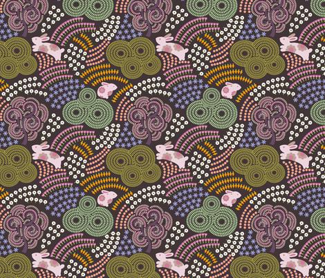 Pink Bunny fabric by chulabird on Spoonflower - custom fabric