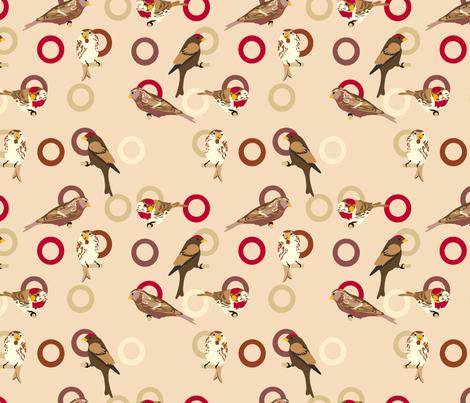 Bird feeder fabric by marlene_pixley on Spoonflower - custom fabric