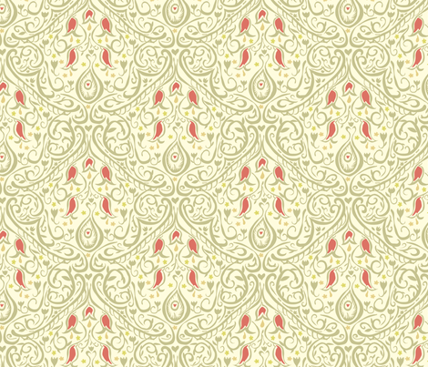 Freehand Damask 2 fabric by marlene_pixley on Spoonflower - custom fabric