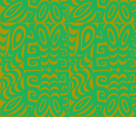 Abstractiva, Tsunami, phospherescent fabric by sophista-tiki_by_dawn_frasier on Spoonflower - custom fabric