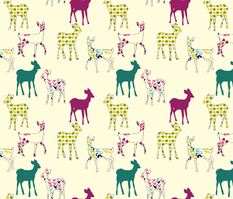 deer fabric by marlene_pixley on Spoonflower - custom fabric