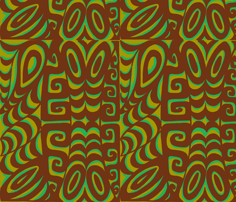 Abstractiva, Tsunami, brown fabric by sophista-tiki_by_dawn_frasier on Spoonflower - custom fabric
